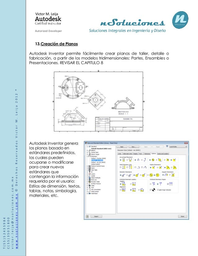 manual de autodesk inventor 2013 rh es slideshare net  autodesk inventor 2013 user manual pdf